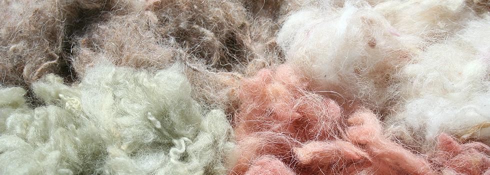 coloured blended textile