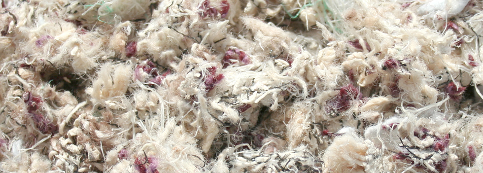 Shredded carpet for equestrian arena flooring